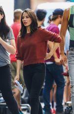 OLIVIA MUNN at Six Season 2 Set in Vancouver 07/26/2017