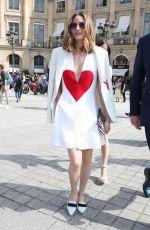 OLIVIA PALERMO Arrives at Schiaparelli Fashion Show at Paris Fashion Week 07/02/2017