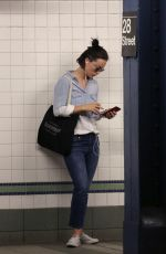 OLIVIA WILDEat a Train Station in New York 07/19/2017