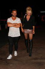 PAMELA ANDERSON Leaves VIP Room in Saint Tropez 07/18/2017