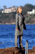 PAMELA ANDERSON on the Set of a Photoshoot in St Tropez 07/17/2017