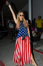 PARIS HILTON and Chris Zlyka at 4th of July Party in Ibiza 07/04/2017
