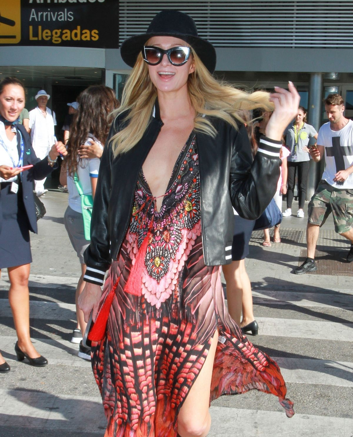 Paris hilton arrives at airport in ibiza 07 02 2017 - Paris hilton ibiza ...