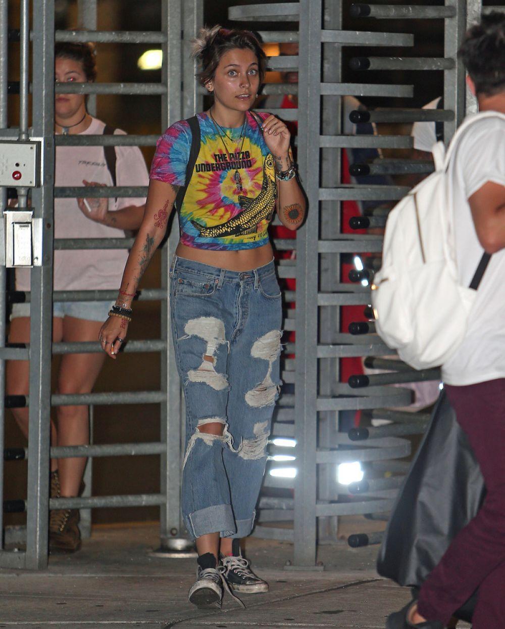 PARIS JACKSON at JFK Airport in New York 07/17/2017