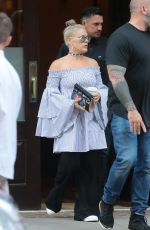 PINK Leaves Her Hotel in New York 07/05/2017