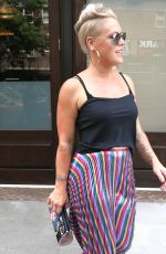 PINK Leaves Her Hotel in New York 07/11/2017