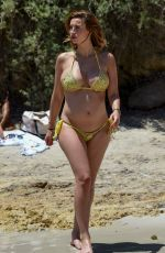 Pregnant FERNE MCCANN in Bikini on the Beach in Majorca 07/07/2017