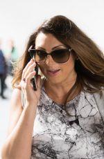 Pregnant LUISA ZISSMAN Leaves BBC Studios in London 07/16/2017