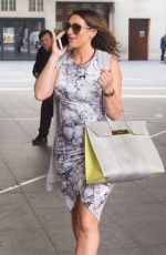 Pregnant LUISA ZISSMAN Leaves BBC Studios in London 07/16/2017