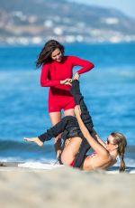 RACHEL MCCORD and KIRRA KEHOE in Bikinis Surfing at Malibu 07/02/2017