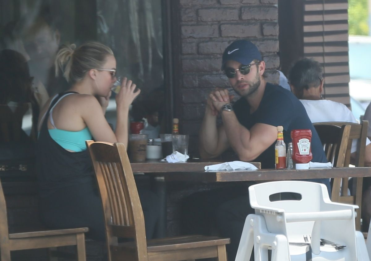 REBECCA RITTENHOUSE and Chace Crawford at Kings Road Cafe in West Hollywood 07/17/2017
