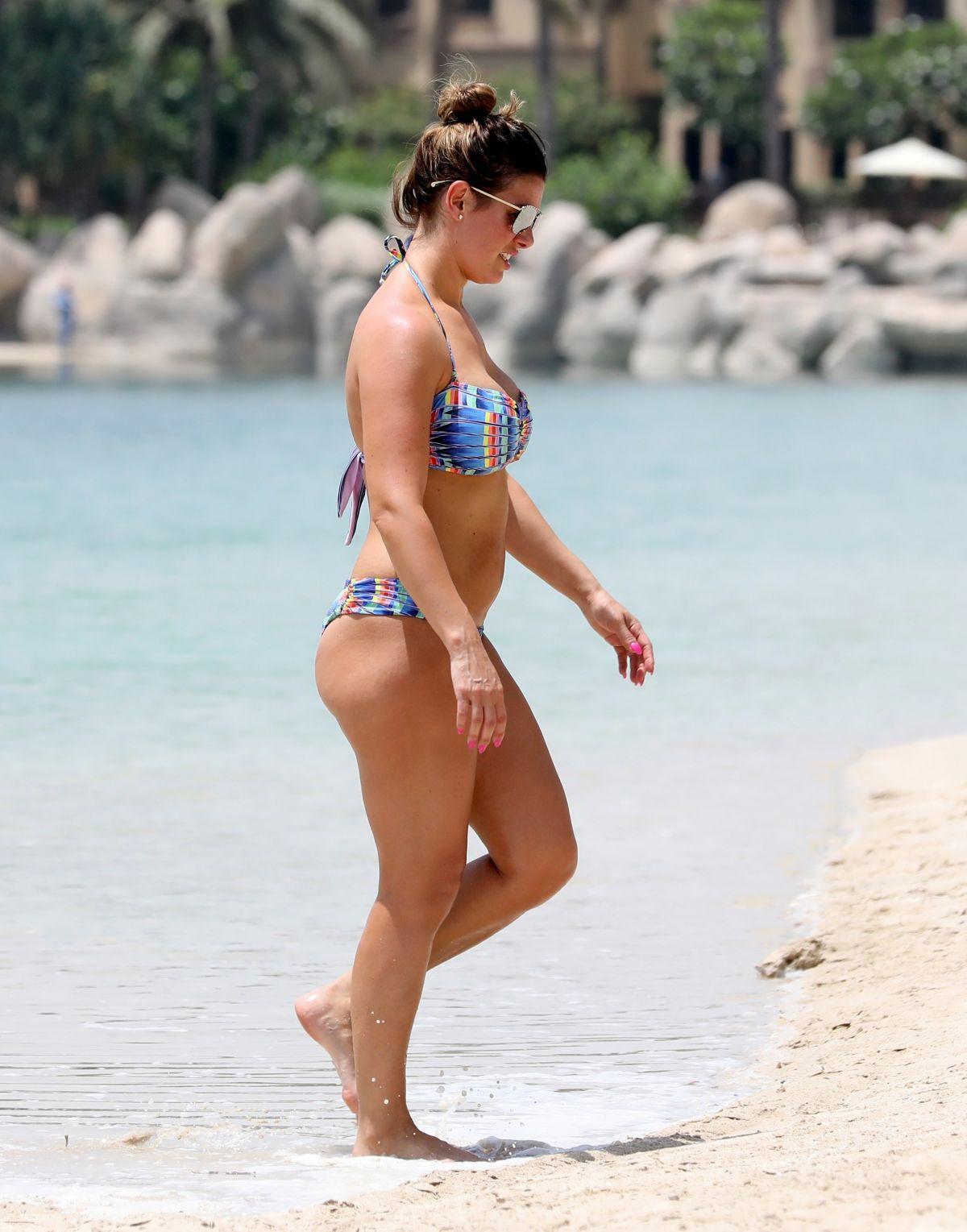 REBEKAH VARDY in Bikini on the Beach in Dubai 07/01/2017