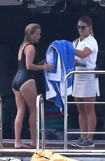 REESE WITHERSPOON in Swimsuit at a Boat in Sag Harbor 07/21/2017