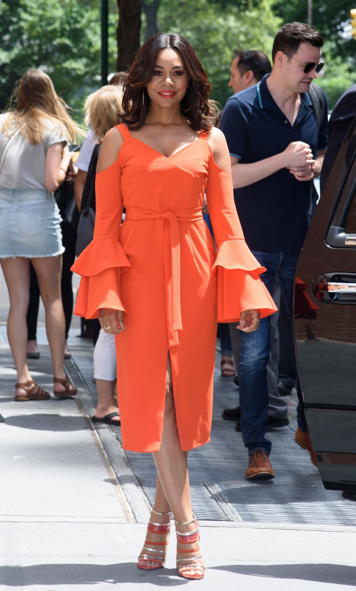 REGINA HALL Arrives at The View in New York 07/17/2017