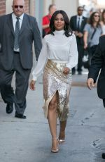 REGINA HALL Leaves Jimmy Kimmel Live in Hollywood 07/10/2017