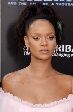 RIHANNA at Valerian and the City of a Thousand Planet Premiere in Hollywood 07/17/2017