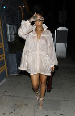 RIHANNA Out for Dinner in Santa Monica 07/12/2017