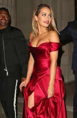 RITA ORA Leaves Freemasons Hall in Covent Garden in London 07/10/2017