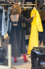 RITA ORA Shopping at Store at Soho House Hotel in Berlin 07/03/2017