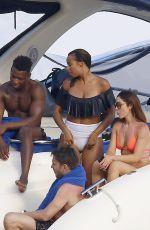 ROCHELLE HUMES in Bikini at a Boat in Ibiza 07/20/2017