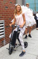 ROMEE STRIJD Arrives at Milk Studios for VS Photoshoot in New York 07/28/2017
