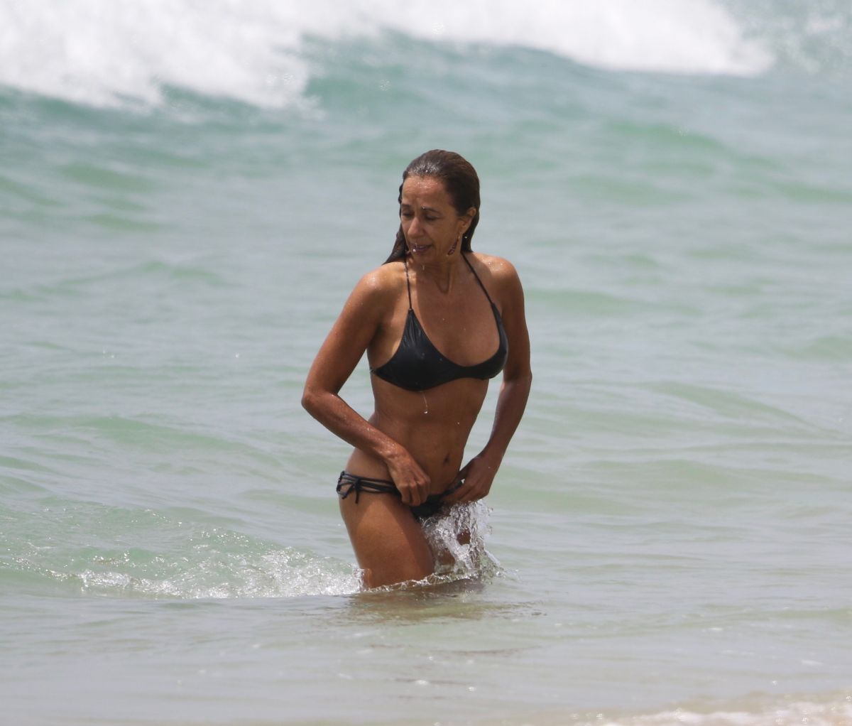 ROSARIO FLORES in Bikini at a Beach in Vejer De La Frontera 07/06/2017