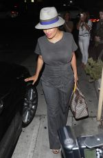 SALMA HAYEK Leaves a Restauranst in West Hollywood 07/21/2017