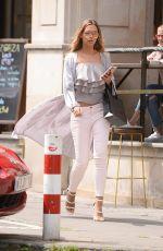 SANDRA KUBICKA Leaves a Restaurant in Warsaw 07/04/2017