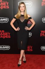 SARA CANNING at War for the Planet of the Apes Premiere in New York 07/10/2017
