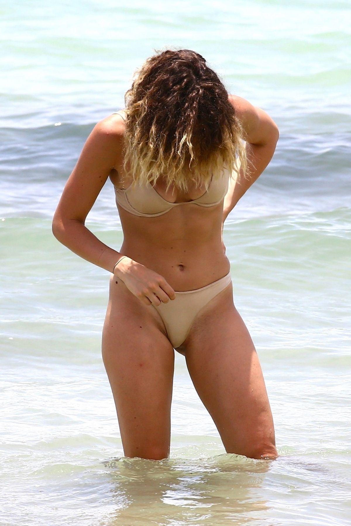 SARAH BADERNA in Bikini on the Beach in Miami 07/20/2017