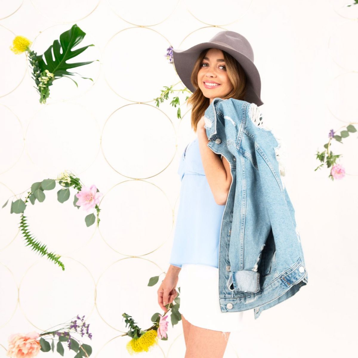 SARAH HYLAND for New Spring Collection for Refinery29