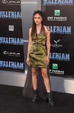 SASHA LANE at Valerian and the City of a Thousand Planets Premiere in Hollywood 07/17/2017