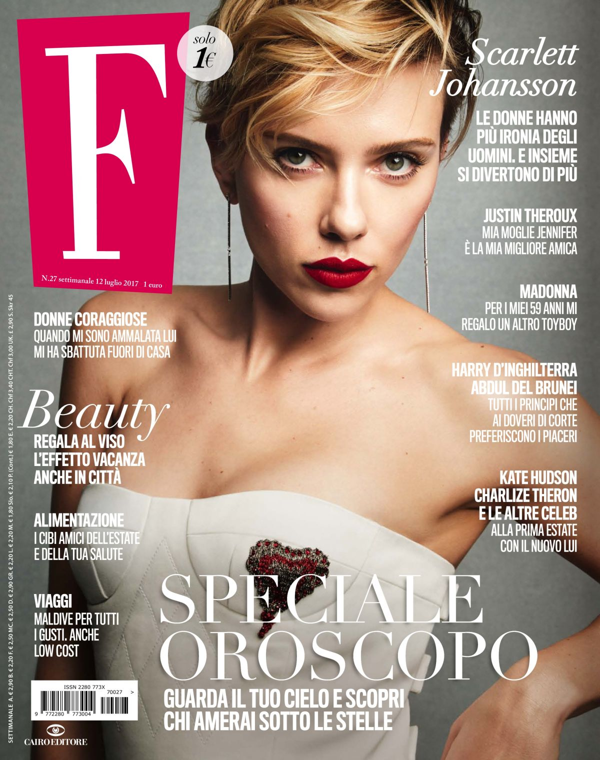 SCARLETT JOHANSSON in F Magazine, July 2017