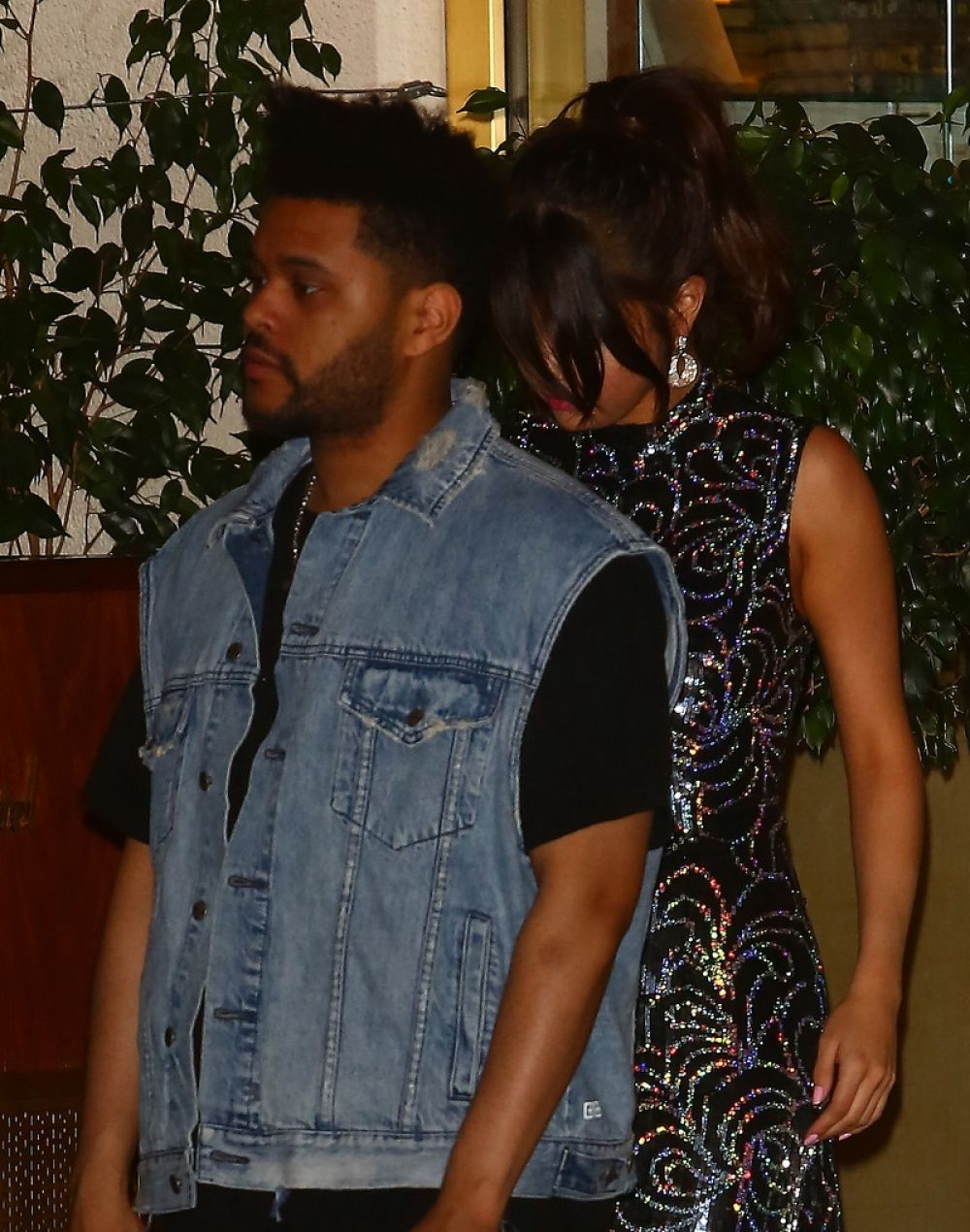 SELENA GOMEZ and The Weeknd Night Out in Los Angeles 07/24/2017