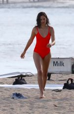 SHANINA SHAIK on the Set of a Photoshoot at a Beach in Malibu 07/06/2017