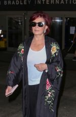 SHARON OSBOURNE at LAX Airport in Los Angeles 07/11/2017