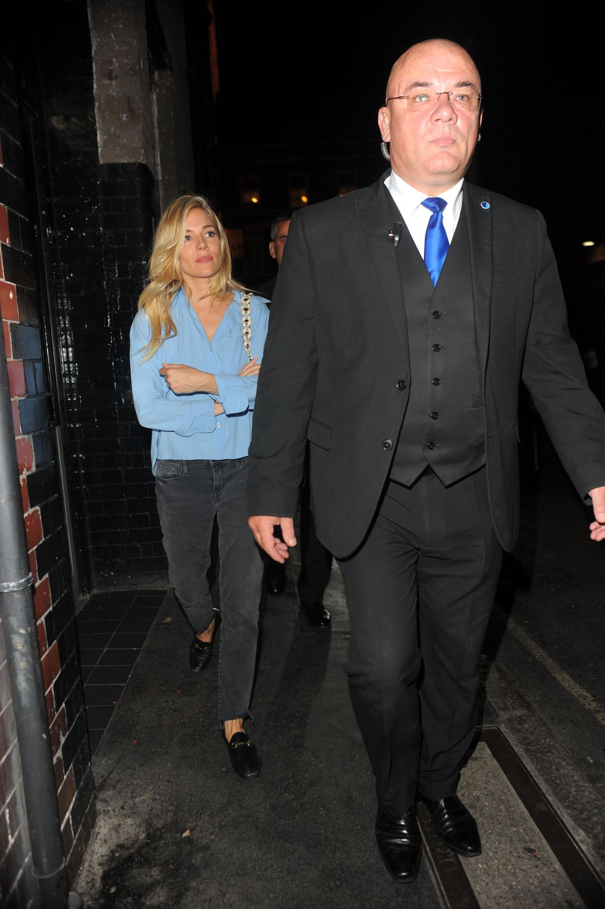 SIENNA MILLER Leaves Apollo Theatre in London 07/17/2017