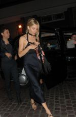SIENNA MILLER Night Out in London 07/04/2017