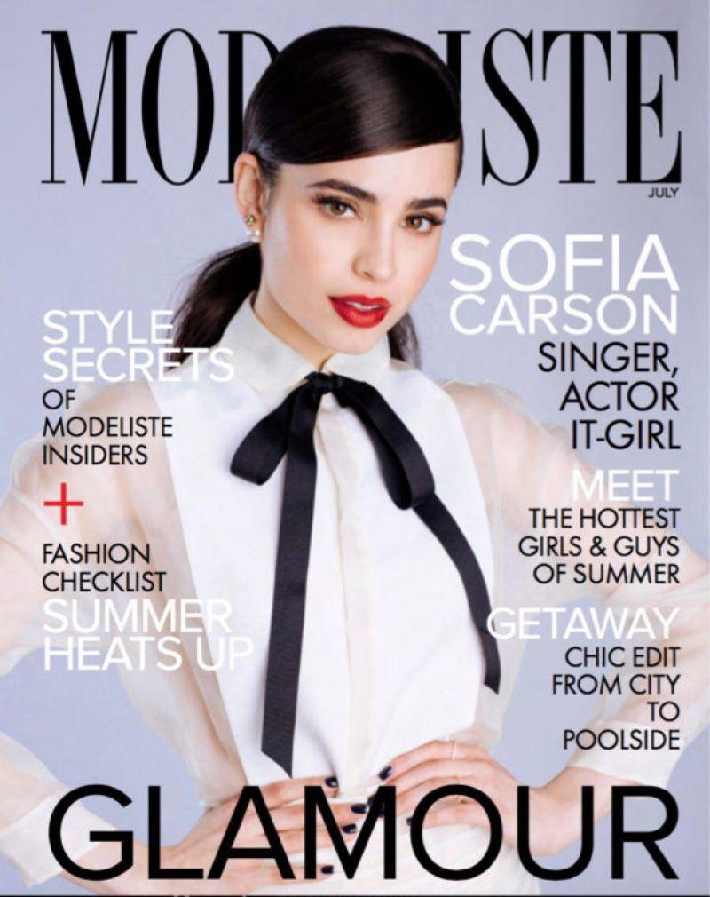 SOFIA CARSON for Modeliste Magazine, July 2017