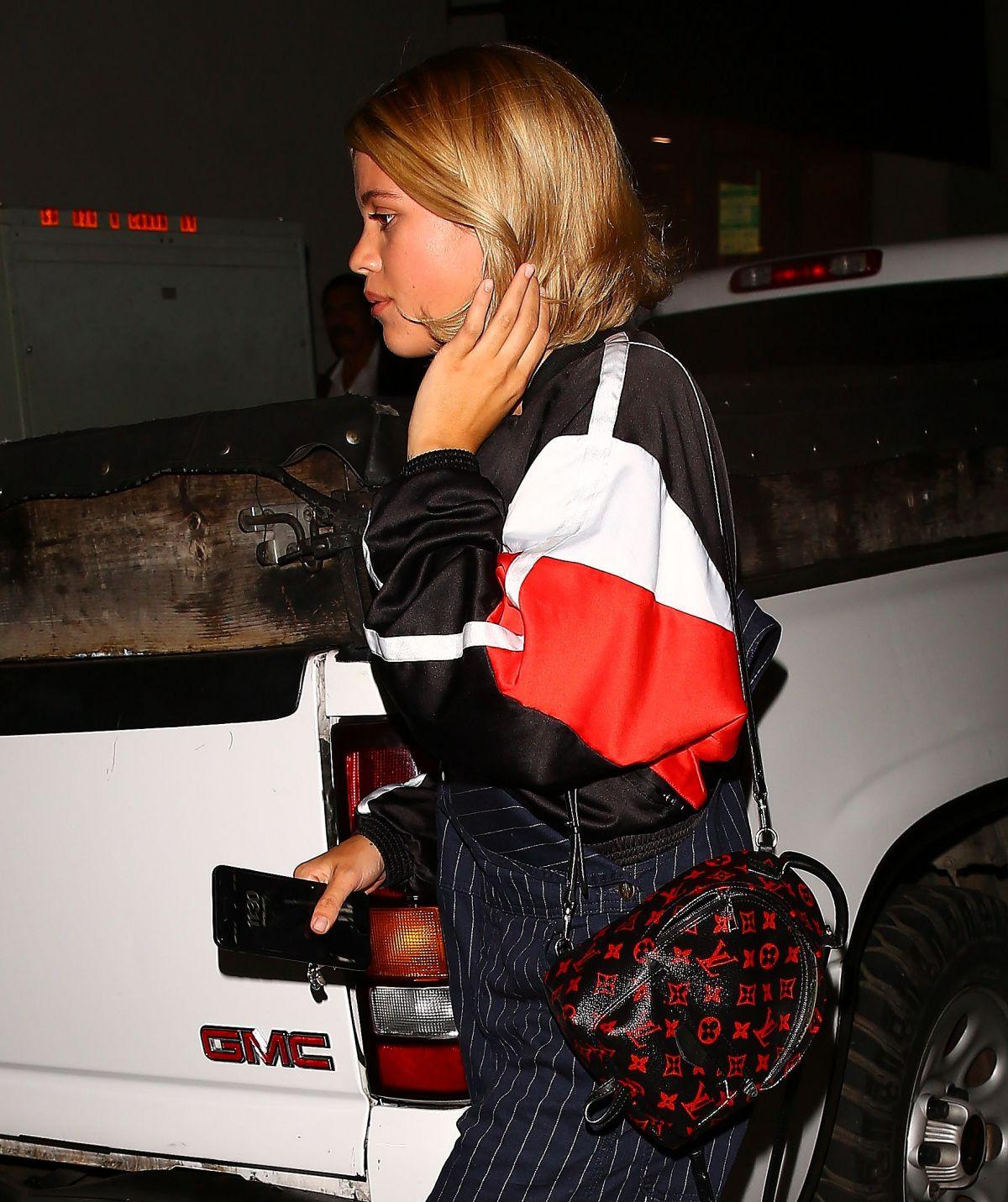 SOFIA RICHIE Leaves Il Pastaio in Los Angeles 07/17/2017
