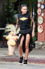 SOPHIA THOMALLA Out for Lunch in Los Angeles 07/15/2017