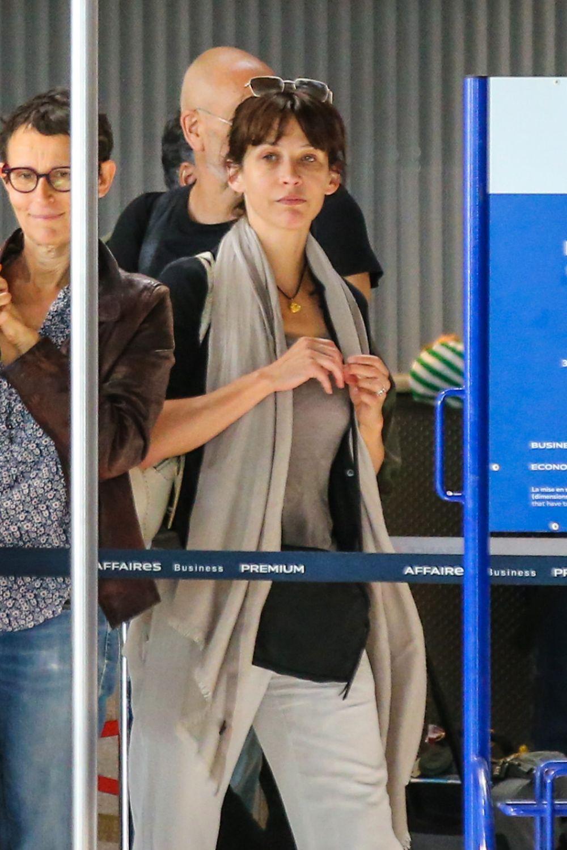 SOPHIE MARCEAU at Charles De Gaulle Airport in Paris 07/09/2017