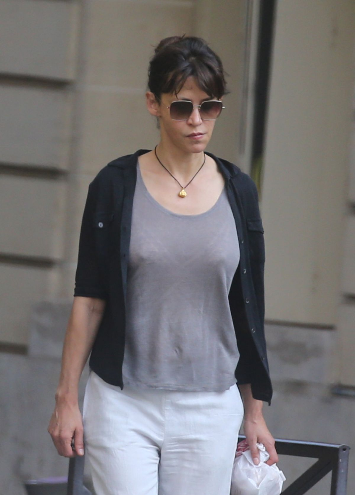 SOPHIE MARCEAU Leaves Her Hotel in Paris 07/09/2017