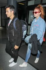 SOPHIE TURNER and Joe Jonas Jet Out of LAX Airport 07/20/2017