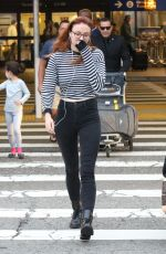 SOPHIE TURNER Arrives at LAX Airport in Los Angeles 07/11/2017
