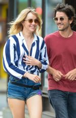 SUKI WATERHOUSE and Diego Luna Out in New York 07/19/2017