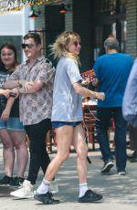 SUKI WATERHOUSE in Shorts Out in New York 07/21/2017
