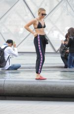 TALLIA STORM and Her Sister at Louvre in Paris 07/06/2017