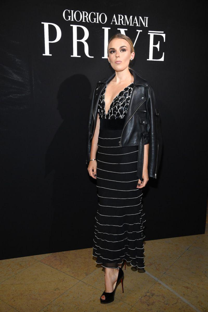 TALLIA STORM at Giorgio Armani Prive Haute Couture Show in Paris 07/04/2017