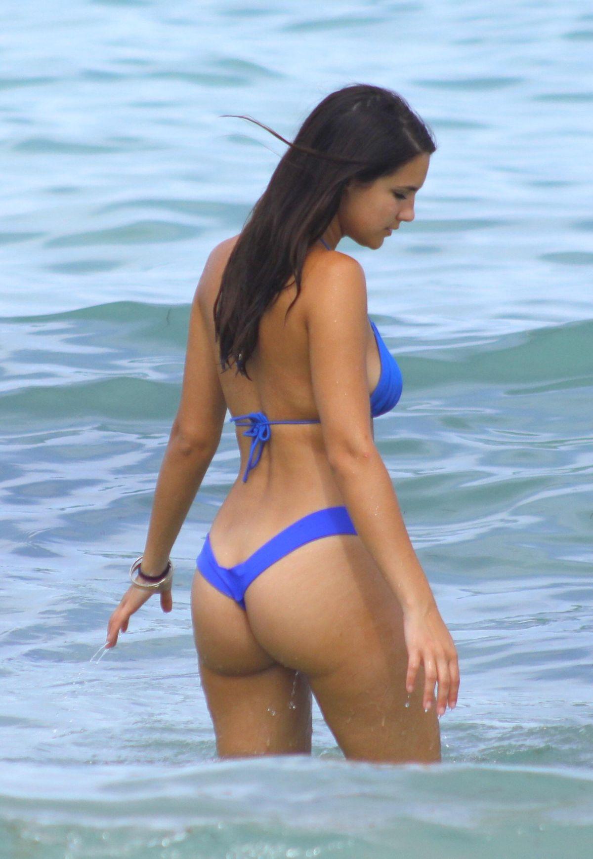 Tao Wickrath in a White Bikini on Miami Beach 2 Pic 4 of 35